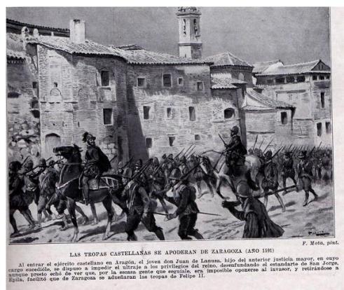Tropas castellanas se apoderan de Zaragoza 1591